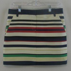 J. Crew, multi colored skirt